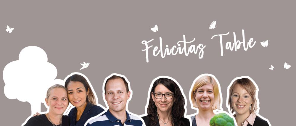 Sechs FamilienbloggerInnen aus dem Netzwerk diskutieren am Felicitas Table über Familienthemen