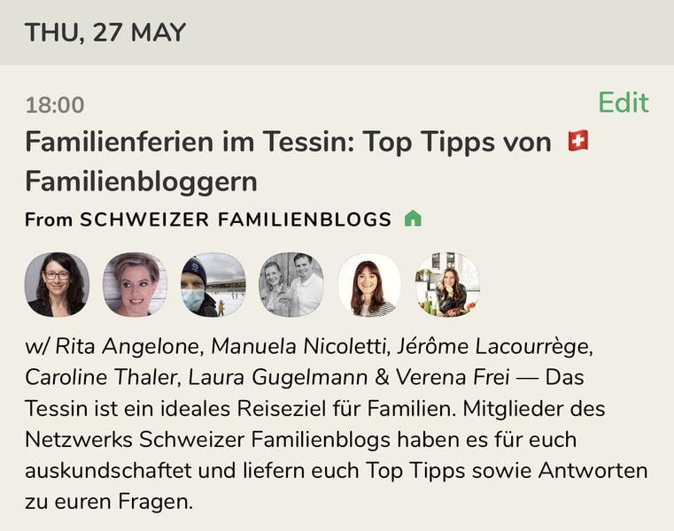 Familienferien im Tessin - Clubhouse Talk